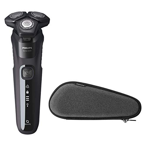 Philips S5000 S5588 / 30 Men's Electric Shaver with Skin-IQ Technology, Integrated Wet / Dry Trimmer and Premium Travel Case