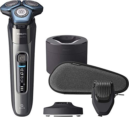Philips S7000 S7788 / 59 - Men's Electric Shaver with Skin-IQ Technology, Trimmer, Dry / Wet, with Charging Base, Cleaning Base, Beard Styler and Premium Cover
