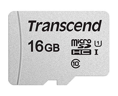 Transcend Usd300S 16Gb Microsd Card, Class 10, U1, Up to 95 Mbs Read