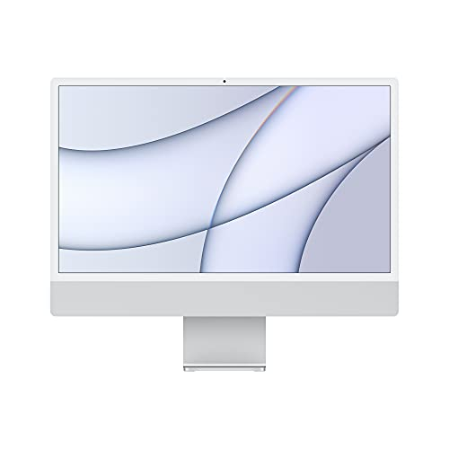 2021 Apple iMac (24-Inch, Apple M1 Chip with Eight-Core CPU and Eight-Core GPU, Quad Port, 8GB RAM, 512GB) - Silver