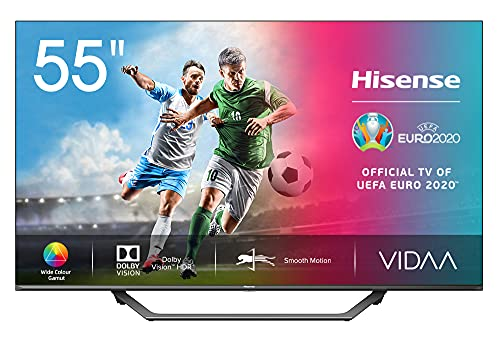 "Hisense UHD TV 2020 55AE7400F - Smart TV 55"" 4K resolution, Dolby Vision, Wide Color Gamut, DTS Virtual-X audio, Ultra Dimming, Vidaa U 4.0, with built-in Alexa"