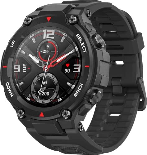 Amazfit T-Rex Smartwatch Pulsera Inteligente Reloj deportativo Monitor de Sueño Notificación Llamada y Mensaje para Andriod iOS-Negro