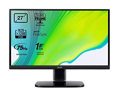 "Acer KA272A - 27 Monitor"" Full HD 75 Hz (68.6 cm, 1920x1080, VA LED Display, ZeroFrame and FreeSync, 250 nits, 1ms Response Time, VGA, 2xHDMI) - Color Black"
