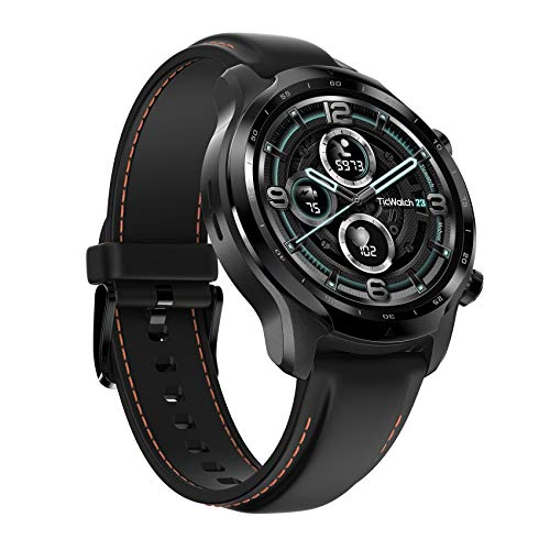 TicWatch Pro 3 GPS Smartwatch for Men and Women, Wear OS by Google, Dual Layer Screen 2.0, Long Battery Life, Black