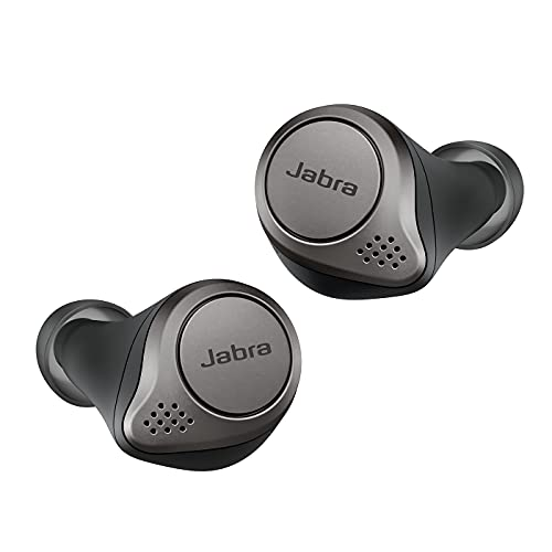 Jabra Elite 75t, Active Noise Canceling Bluetooth Headphones with Long Battery Life, Truly Wireless Calls and Music Titanium Black