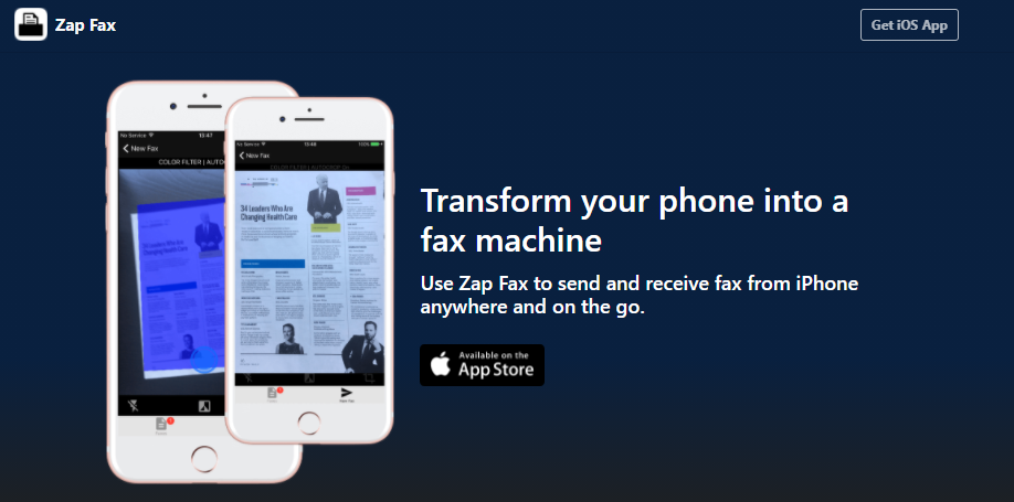 Can you fax a PDF from your iPhone?