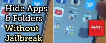 Can you hide the hidden folder on iPhone?