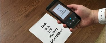 Can you scan a document on your phone?