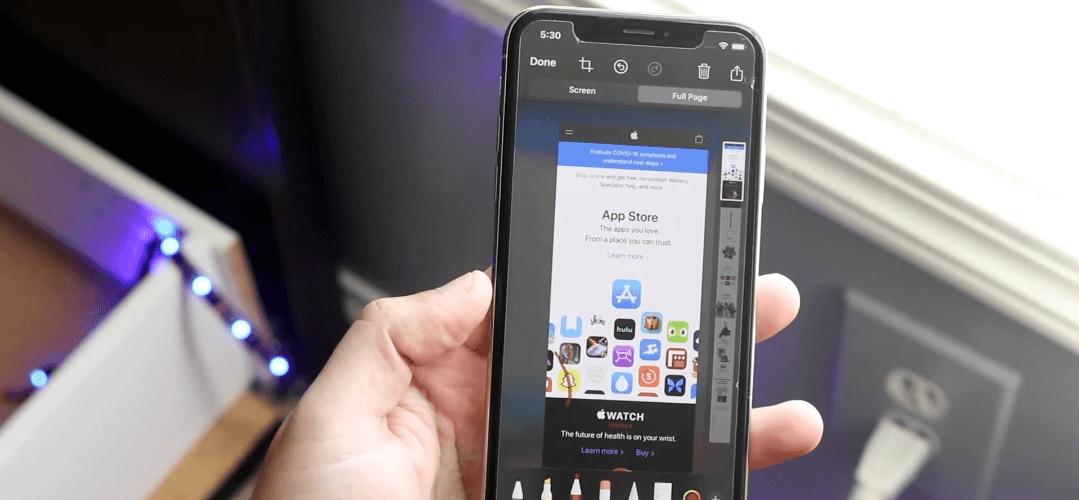 Can you take a scrolling screenshot on iPhone?