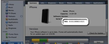 Does IMEI tell you GB?