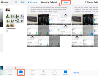 How can I recover permanently deleted photos from my iPhone after 30 days?