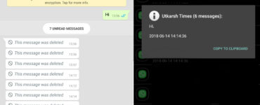 How can I see deleted messages on WhatsApp?