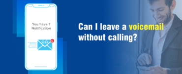 How can I send a voicemail without calling?