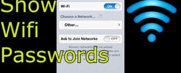 How can I show my WiFi password on my iPhone?