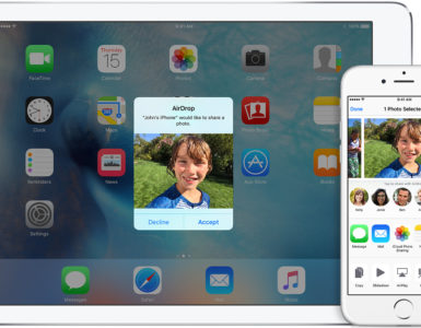 How do I AirDrop photos from iPhone to iPad?