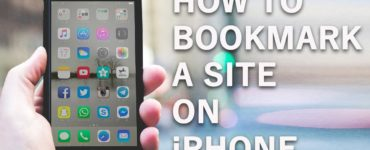 How do I bookmark a page on my phone?