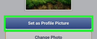 How do I change my profile picture on mobile Facebook?