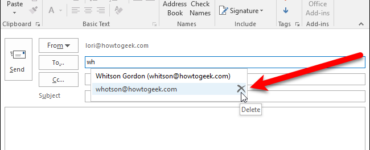 How do I delete an email address?