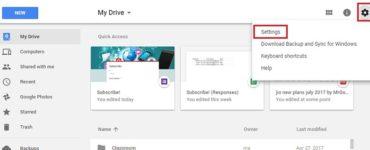 How do I disable Google Drive?