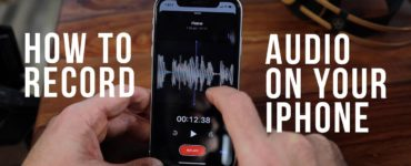 How do I do a voice recording on my iPhone?