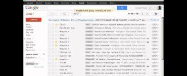 How do I find old emails?