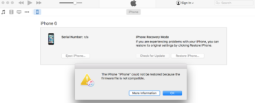 How do I fix iPhone Firmware not compatible?