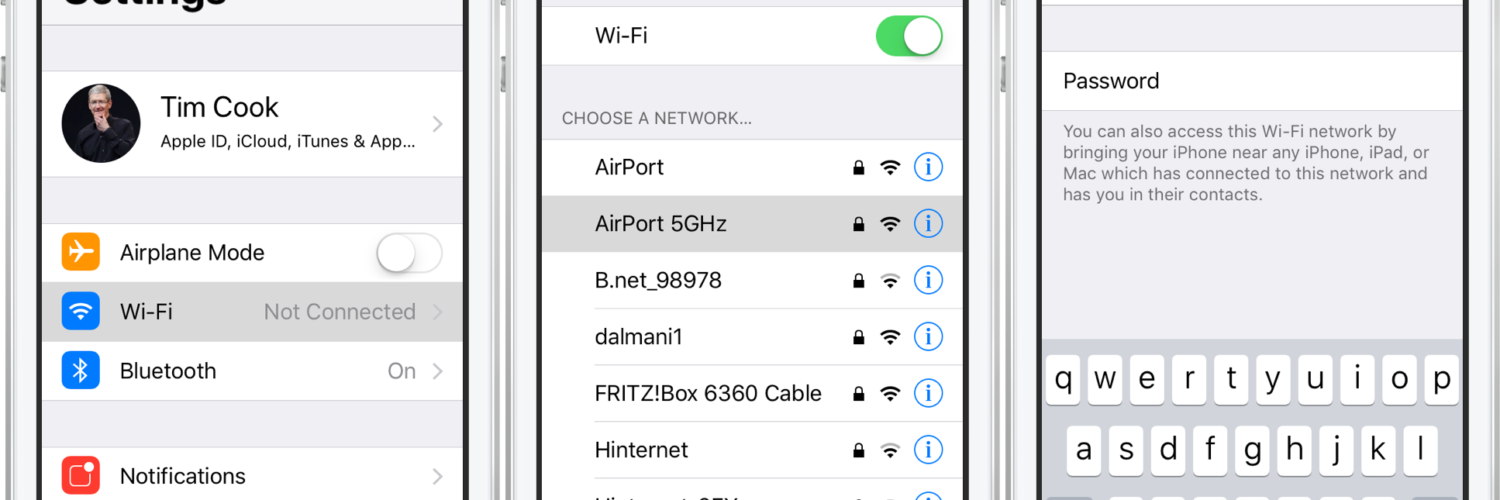 How do I get my Iphone to ask for Wi-Fi password?