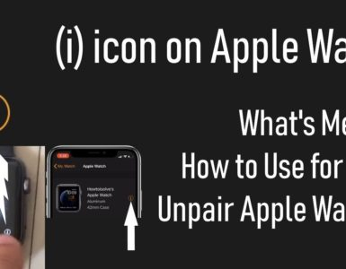 How do I get the i icon on my Apple Watch?