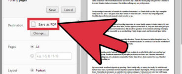 How do I make a document a PDF?