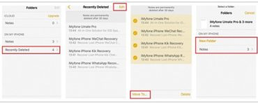 How do I recover deleted notes on my iPhone from iCloud?