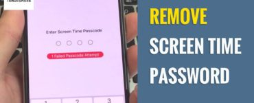 How do I remove Screen Time without password?