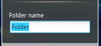 How do I rename a folder on my phone?