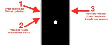 How do I restart my iPhone 11 when the screen is black?
