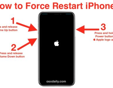 How do I restart my iPhone with buttons?