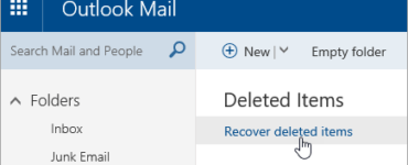 How do I restore junk mail?