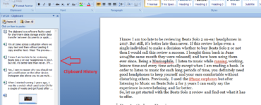 How do I retrieve copied text from clipboard?
