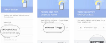 How do I retrieve my Backup from Google?