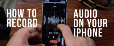How do I secretly record audio on my iPhone?