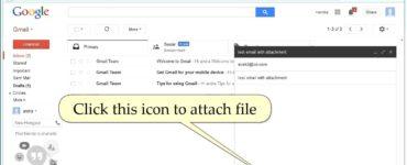 How do I send photos with Gmail?