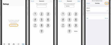 How do I set up my voicemail on my iPhone?