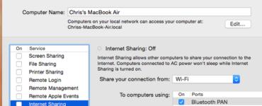 How do I share my Mac hotspot?