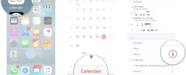 How do I share my iPhone calendar with my husband?