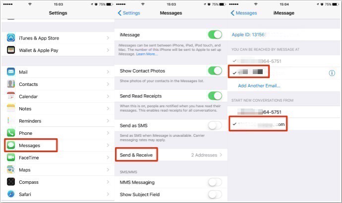 How do I sync my iPad and iPhone text messages?