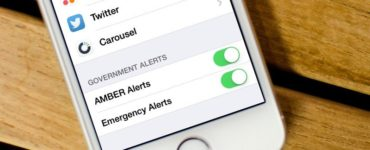 How do I view Amber Alerts on my iPhone?