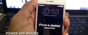 How do you Undisable an iPhone without a computer?