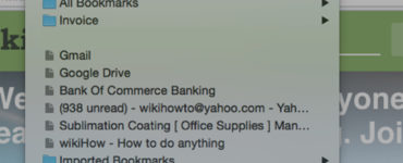 How do you bookmark a site?