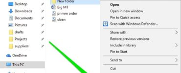 How do you create a new folder?