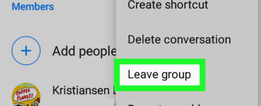How do you gracefully leave a group?