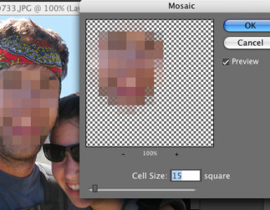 How do you pixelate a picture on iPhone?