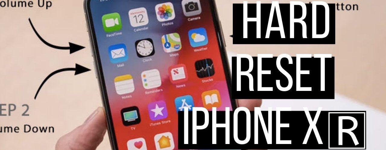 How do you restart a frozen XR iPhone?